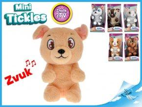 Mini Tickles plyšové zvířátko1ks pejsek hnědý Mini Tickles plyšové zvířátko1ks pejsek hnědý