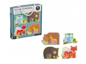 Petit Collage První puzzle lesní zvířátka