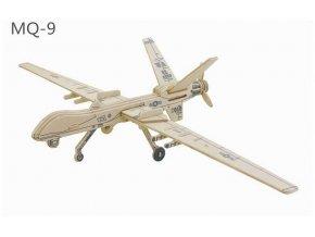 RoboTime Dřevěné skládačky 3D puzzle Drone MQ 9