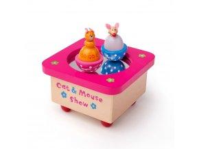 Tidlo Hrací skříňka kočka a myš