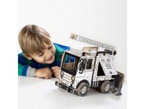 TO DO kartonová 3D skládačka Hasičské auto cisterna