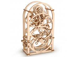 164348 ugears 3d drevene mechanicke puzzle hodiny