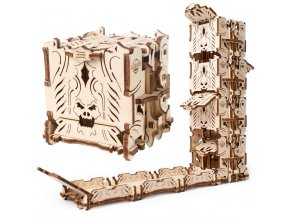 Ugears 3D dřevěné mechanické puzzle Věž pro hry s kostkami