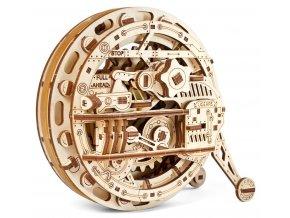Ugears 3D dřevěné mechanické puzzle Jednokolka (monowheel)