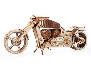 Ugears 3D dřevěné mechanické puzzle VM-02 Motorka (chopper)