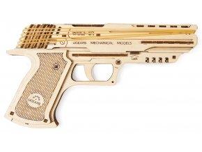 Ugears 3D dřevěné mechanické puzzle Wolf-01 Pistol