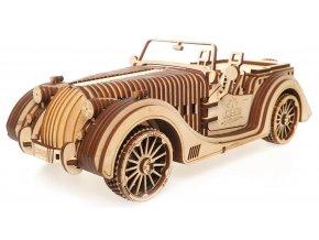 173414 ugears 3d drevene mechanicke puzzle vuz roadster vm 01