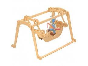 338561 woodcraft drevene 3d puzzle houpacka