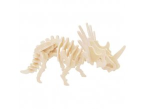 339134 woodcraft drevene 3d puzzle styracosaurus