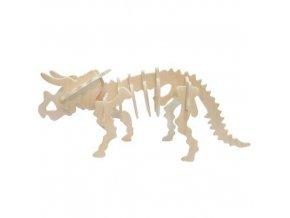 158960 woodcraft drevene 3d puzzle triceratops