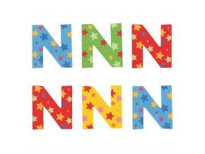 Bigjigs Toys hvězdičkové písmenko N