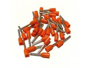 15318 dutinka izolovana prurez 0 50mm2 delka 8mm oranzova