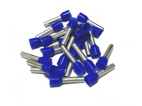 15357 dutinka izolovana prurez 2 5mm2 delka 8mm modra