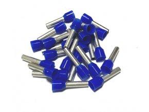 15360 dutinka izolovana prurez 2 5mm2 delka 12mm modra