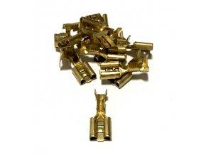 15447 mosazna objimka prurez 0 5 1 5mm2 6 3x0 8mm