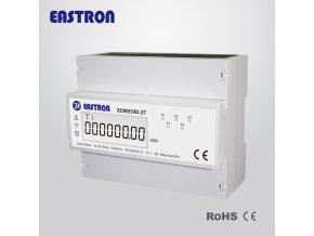 Elektroměr na DIN lištu třífázový digitální SDM530D-2T 2-tarif