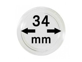 18744 kapsle na mince 34 mm