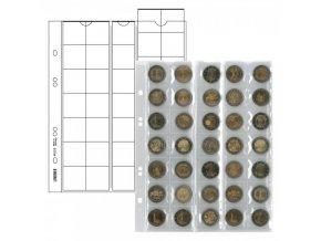 Listy na mince - pro 35 mincí o průměru 27mm (Barva prokládacího listu Červená)