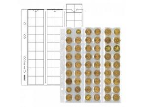 Listy na mince - pro 54 mincí o průměru 20mm (Barva prokládacího listu Černá)