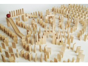 EkoToys Dřevěné domino přírodní 830 ks