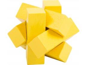 Small Foot Barevný hlavolam 1ks žlutá hvězda Small Foot Barevný hlavolam 1ks žlutá hvězda