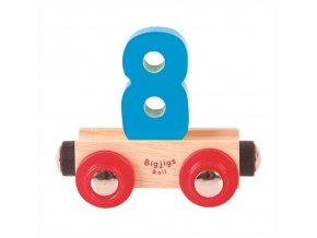 Bigjigs Rail vagónek dřevěné vláčkodráhy - Číslo 8