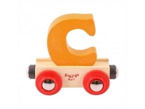 Bigjigs Rail vagónek dřevěné vláčkodráhy - Písmeno C