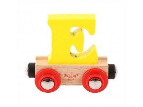 Bigjigs Rail vagónek dřevěné vláčkodráhy - Písmeno E