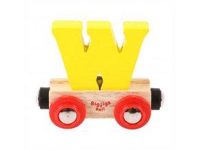 Bigjigs Rail vagónek dřevěné vláčkodráhy - Písmeno W
