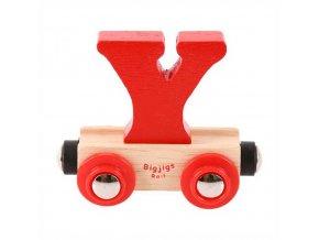 Bigjigs Rail vagónek dřevěné vláčkodráhy - Písmeno Y