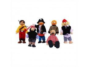 Bigjigs Toys Set piráti 6ks