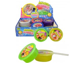 Bublina magická hmota set s brčkem v krabičce 6 barev