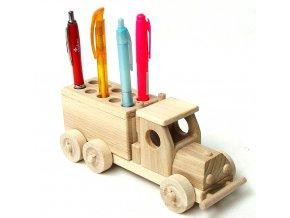 Ceeda Cavity - Dřevěný stojánek na tužky pro děti - Nákladák