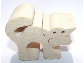 Fauna Dřevěné zvířátko kočka