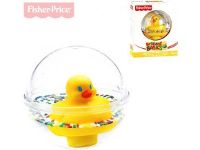 FISHER PRICE Baby kačenka v kouli 10cm do vody pro miminko