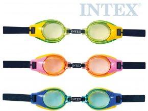 INTEX Brýle plavecké dětské junior do vody 3 barvy 55601