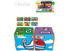K´S KIDS Baby soft kostky textilní 2ks autíčka počítání na baterie Zvuk
