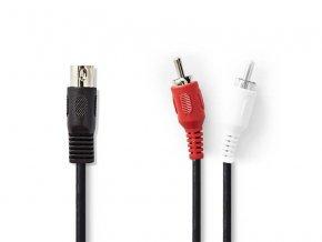 Kabel NEDIS DIN konektor/2xCINCH konektor 1m