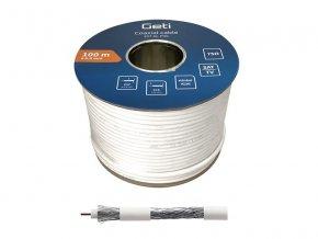 Koaxiální kabel Geti 107AL PVC (100m)