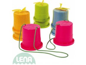 LENA Chůdy dětské barevné plastové 1 pár v síťce 4 barvy 61410