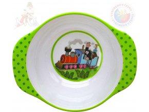 MORAVSKÁ ÚSTŘEDNA Krtek a mašinka (Krteček) miska jídelní 2 ucha