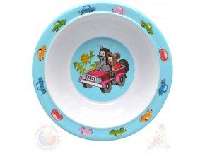 MORAVSKÁ ÚSTŘEDNA Miska jídelní Krtek a autíčko (krteček) 16cm modrý