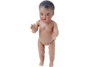 Petitcollin Koupací panenka 6 cm (hnědé oči)
