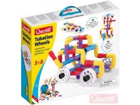 298418 quercetti tubation wheels 3d potrubi a kola 68 dilku stavebnice