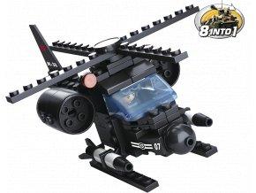 Sluban Army 8into1 M38-B0587G Helikoptéra