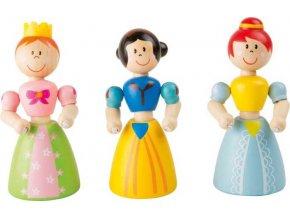 Small Foot Flexibilní dřevěná panenka princezna 1 ks