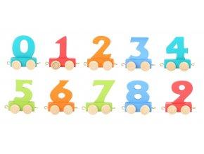 Small Foot Vláčkodráha vláček barevné číslice 1 ks číslice