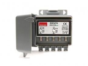 Anténní předzesilovač Emme Esse 83514TG, na stožár, filtr 5G, 1xDAB(VHF) G20dB, 1xUHF G34dB