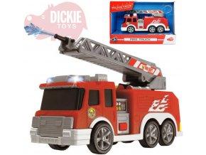 DICKIE Auto hasičské 15cm funkční stříkačka na baterie Světlo Zvuk