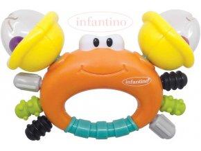 237857 infantino baby chrastitko a kousatko krab plast pro miminko